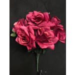 Ramo de Rosa Abierta  Tinto x7 (775)