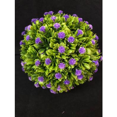 Esfera con mini flores Morado