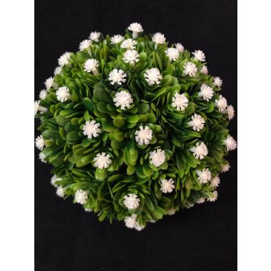 Esfera con Mini flor Blanca