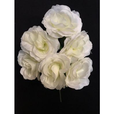 Docena de rosas crema