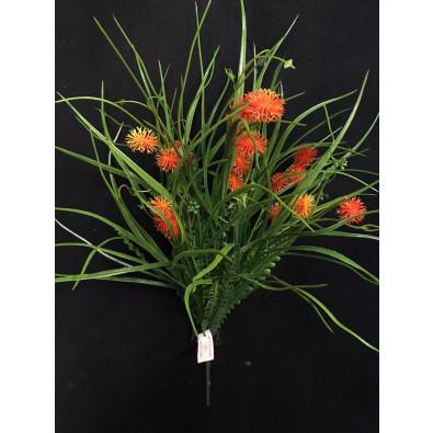 Follaje mixto con espiga verde-naranja