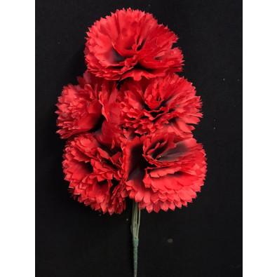 Docena de clavel rojo